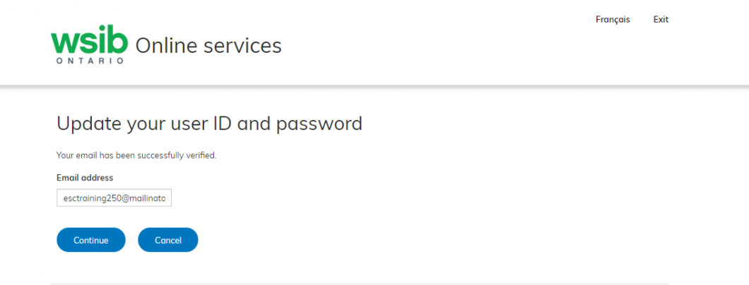 Online services update your user ID and password image